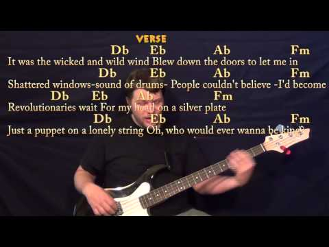 Viva La Vida (Coldplay) Bass Guitar Cover Lesson With Chords, Lyrics