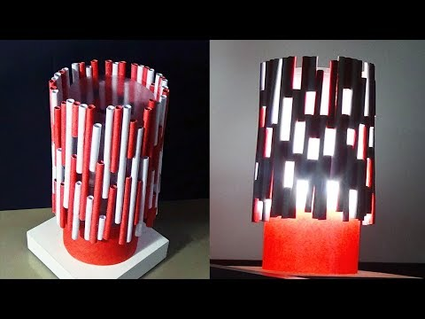 DIY Home decor - Lamp/Light Shade With Paper Rolls  |