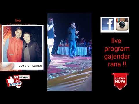 Live Program With Gajendar Rana G Ghadwali Song Lal Chari Malumati Tabla By Vikash Maithani