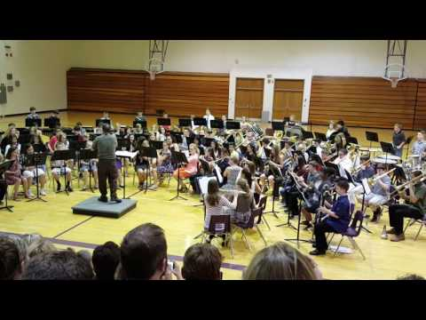 "Logan Fontenelle Middle School plays ""Star Wars"""