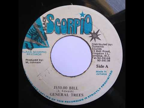 General Trees - J$50.00 Bill - 7inch / Black Scorpio