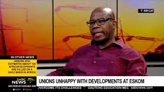 NUM president Joseph Montisetse calls for removal of Jabu Mabuza at Eskom