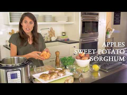 Za'atar Chicken Thighs with Sweet Potatoes, Apple, Kale and Sorghum with Katie Cavuto
