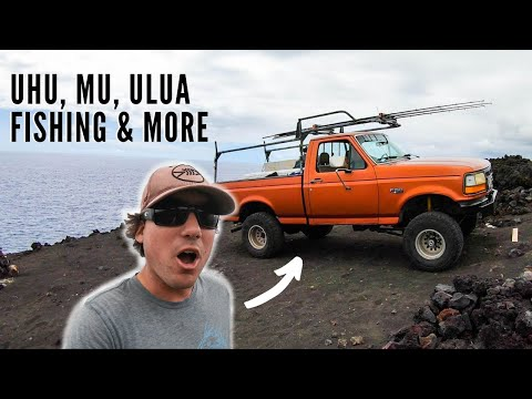 EPIC Camping, SPEARFISHING & Ulua Fishing HAWAII