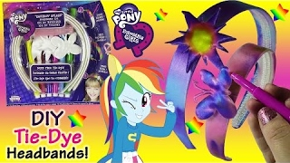 mlp equestria girls diy rainbow splash tie dye headband kit color spray with water lip gloss