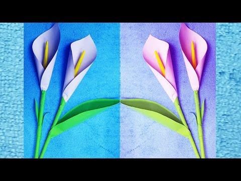 How to Make Origami Art Flower paper   Design flower Easy Tutorial For children