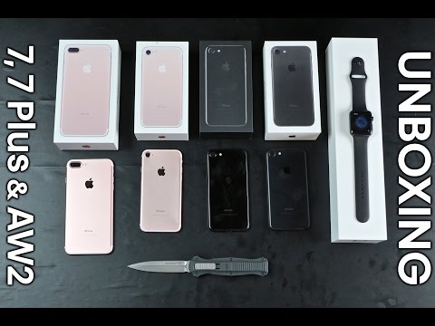 iPhone 7, 7 Plus & Apple Watch Series 2 Unboxing!