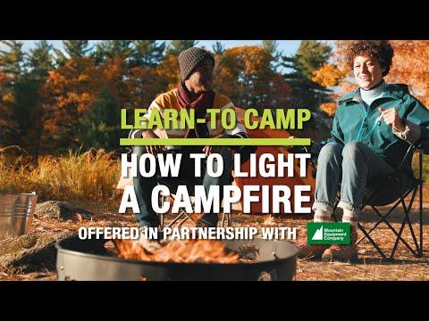 How to light a campfire
