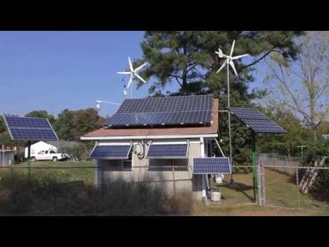 Solar And Wind OutBack Power EnergyCell  200 GH AGM's Battery Bank Update BY KVUSMC