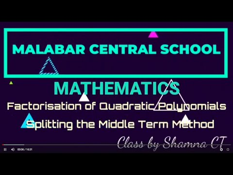 Splitting the middle term|shortcut Method of splitting the middle term|Quadratic equation|in hindi from YouTube · Duration:  3 minutes 55 seconds