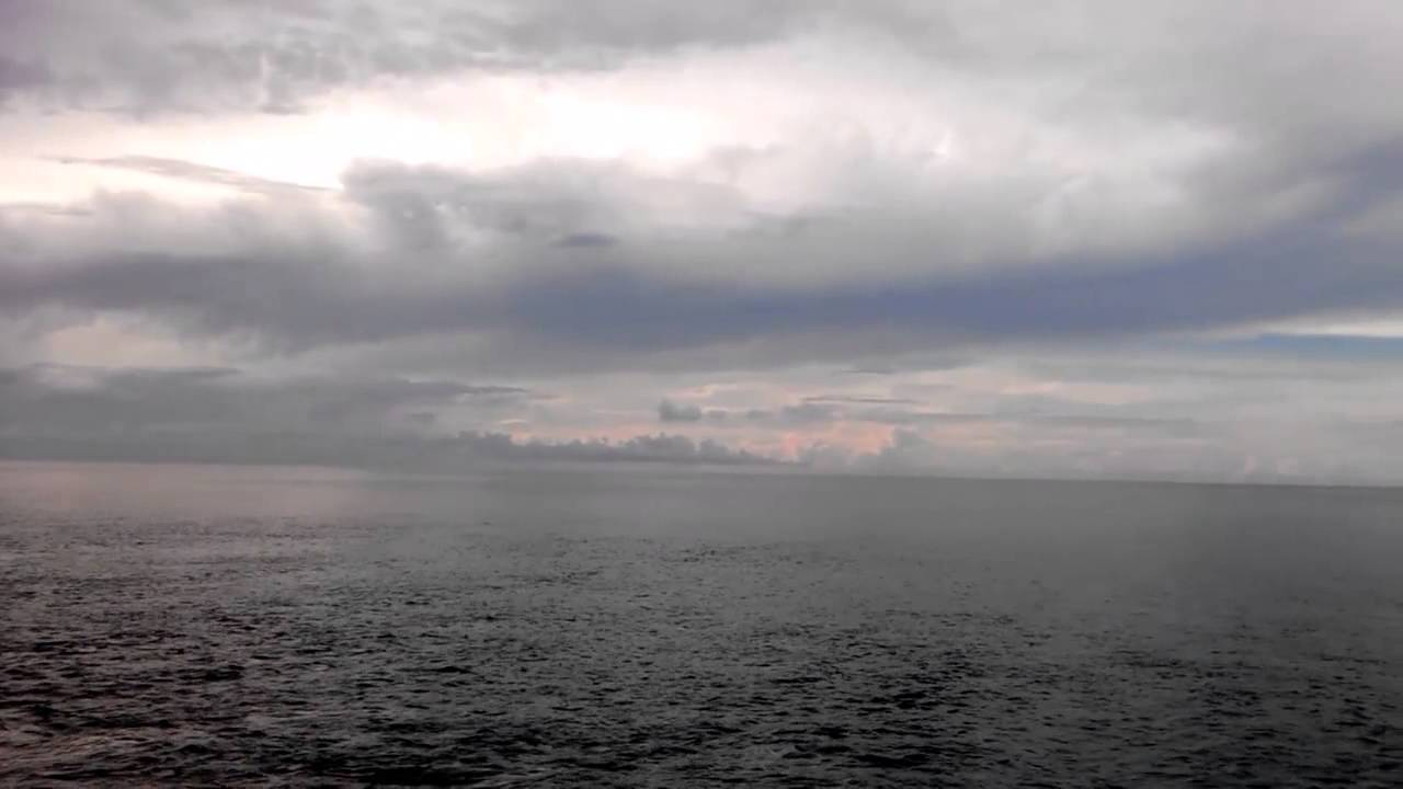 Nature Video Of Pamban Sea With Blue Sky Clouds At Rainy