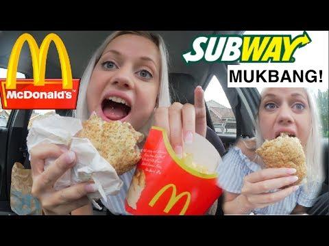SUBWAY & DONKEN MUKBANG! (varning för grisig video)
