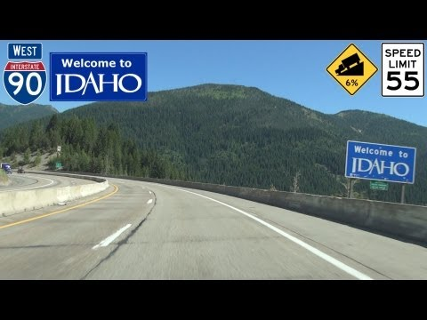 Interstate 90 West Lookout Pass to Wallace, Idaho