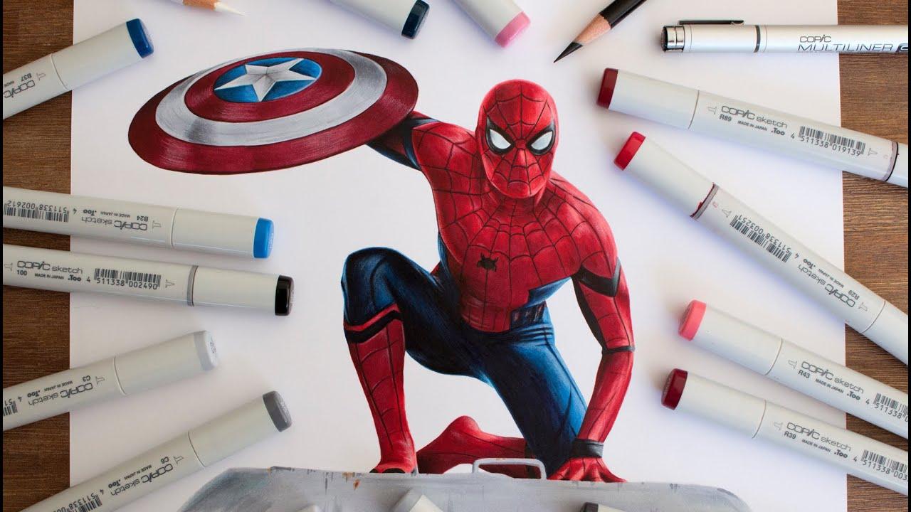 spider man drawing captain america civil war