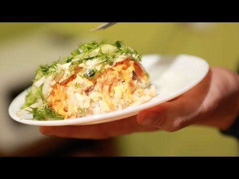 добрый вкусный Ррецепт папа очень на ибыстрый салат