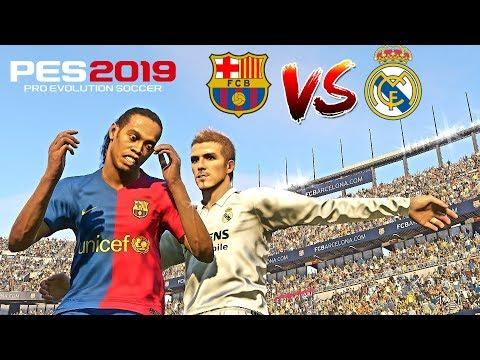 PES 2019 Realistic | Barcelona Legends Vs. Real Madrid Legends - El Clasico | Fujimarupes