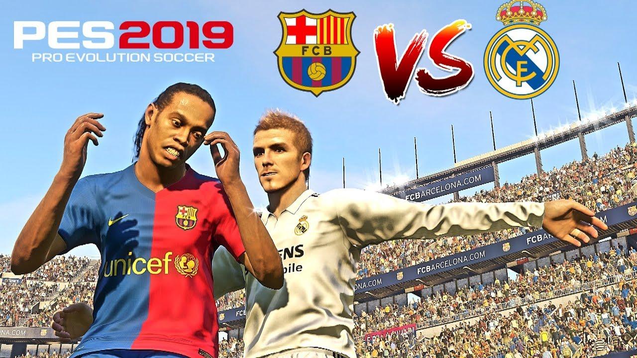 PES 2019 Realistic | Barcelona Legends Vs  Real Madrid Legends - El