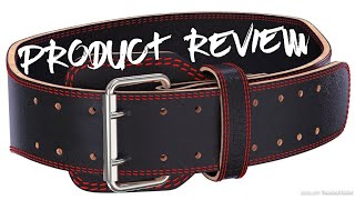 ProFitness Leather Tapered Weightlifting Belt Double Prong - Product Review