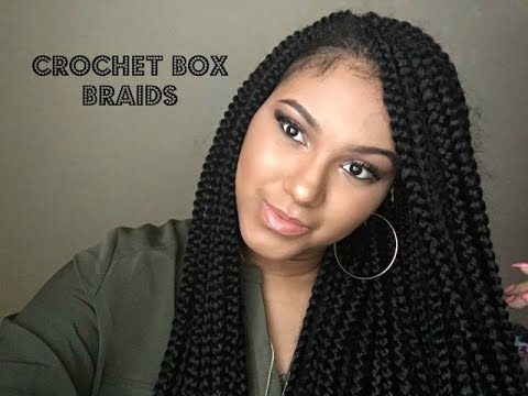 Diy Crochet Box Braids : DIY Crochet Box Braids Freetress Box Braids - YouTube