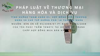 001 - Hop Dong Giua Thuong Nhan Va Chu The Khong Phai Thuong Nhan | Ke Toan Khach San