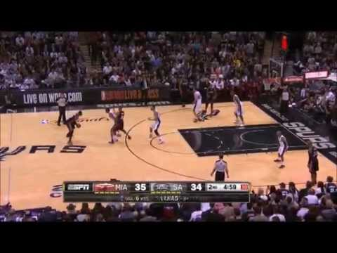 Spurs 39-15 Run vs. Heat (2014 Finals Game 5, Duncan wins 5th Championship)
