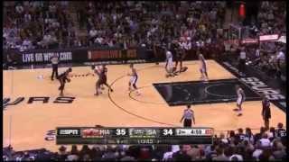 Spurs 39-15 Run vs. Heat (2014 Finals Game 5, Duncan wins 5th Championship)