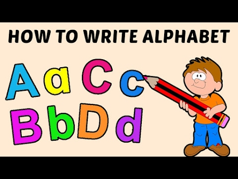 How to Write Alphabet Capital  Small Letters Alphabets Aa to Dd