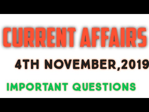 current-affair-/-4th-november,2019-/-important-questions---gk-nation