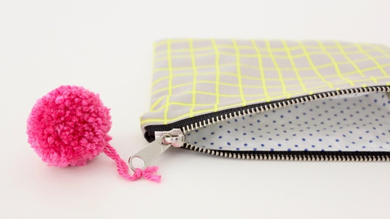 8abee2e98942 How to sew a lined Zipper Pouch--great for Beginners!