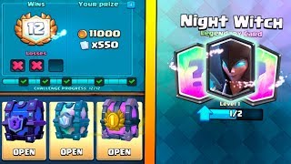 12 WINS ''NIGHT WITCH'' DRAFT CHALLENGE :: Clash Royale :: SUPER MAGICAL CHEST OPENING!