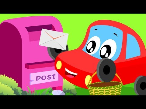 A Tisket A Tasket | Little Red Car Videos | Songs For Babies