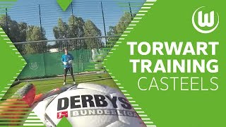 Torwarttraining mit Bundesliga-Keeper Koen Casteels | VfL Wolfsburg