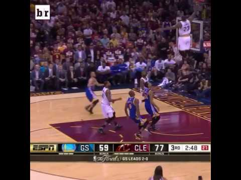 Lebron James jumps over 3 meters and break the glass
