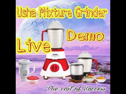 Unboxing Usha MG 3575 mixture grinder Live Demo from YouTube · Duration:  4 minutes 44 seconds
