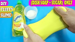 ONLY DISH SOAP and SUGAR SLIME!! How to Make Slime Dish Soap SUGAR!! NO GLUE !!