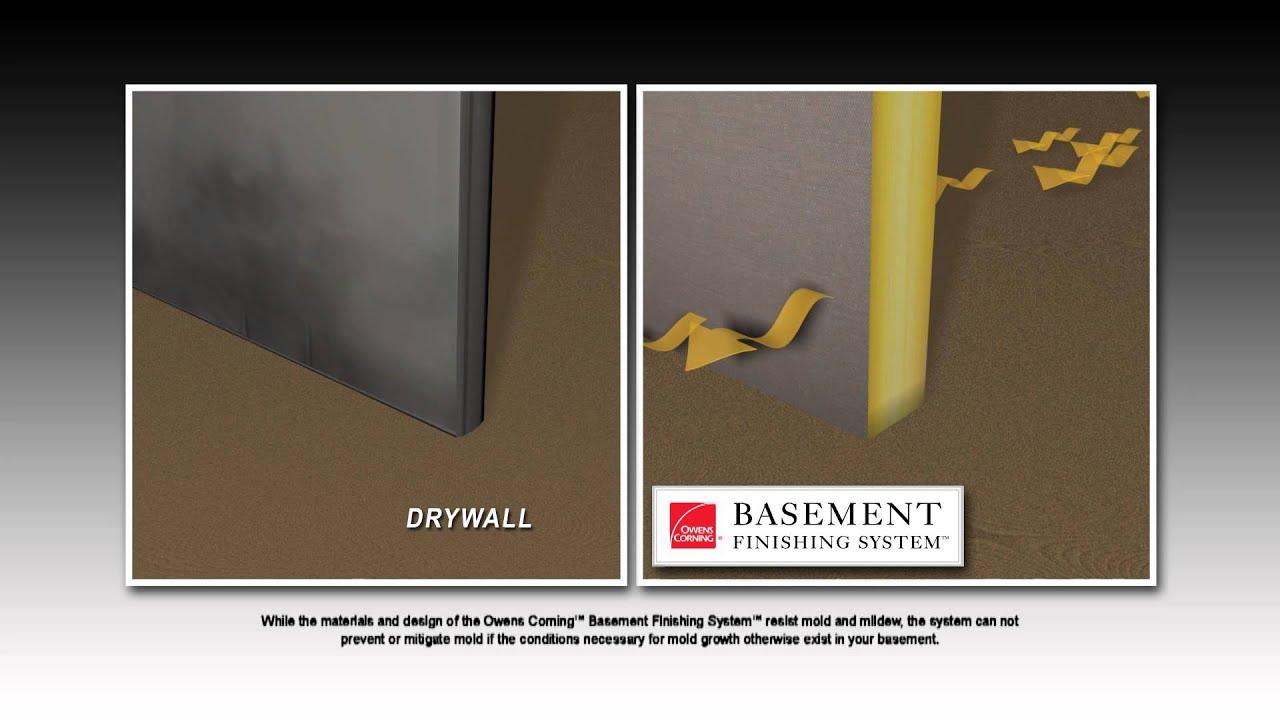 Owens Corning Basement System Walls - YouTube