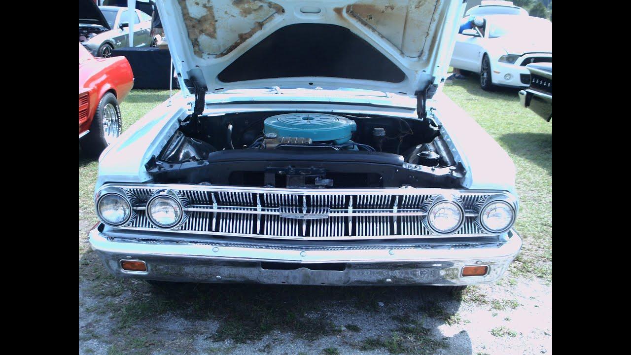 1963 Mercury Monterey Four Door Sedan Wht LakeHelen043016 wmv