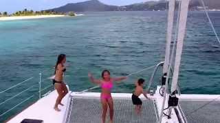 Chic Family Travels Sailing Through The Caribbean On a Catamaran