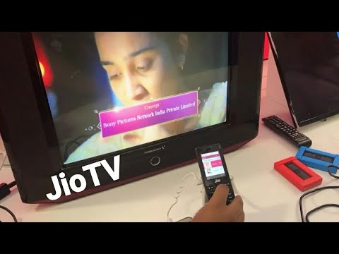 How to Connect Jio Phone to TV by Jio Media Cable to Watch Live Channel. (HINDI)