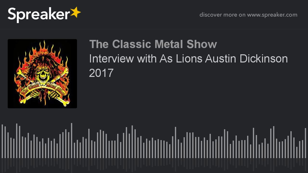 Interview with As Lions Austin Dickinson 2017
