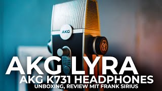 AKG Lyra & AKG K371 - Unboxing & Review USB Podcast Microphone/ Deutsch 2020
