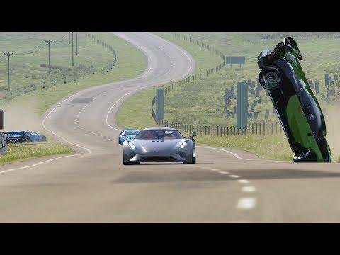 Koenigsegg Regera vs Bugatti Vision GT vs Bugatti Chiron at Highlands