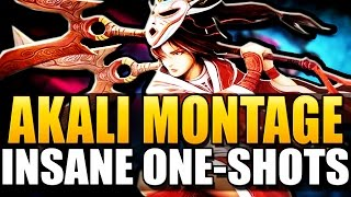 AKALI MONTAGE - Insane One-Shots - League of Legends