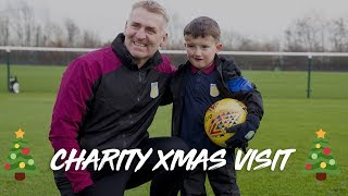 Special Christmas visit: Dean Smith and squad make dreams come true