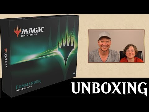 Unboxing Commander Anthology 2 deutsch Magic the Gathering traderonlinevideo MTG Trader