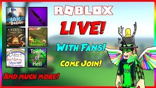 🎮🔴 Roblox LIVE! Playing games with Fans And more! Come Join! 🔴🎮