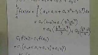 Gauss Quadrature Rule Two Point Rule