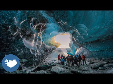 The ice cave tour in Iceland