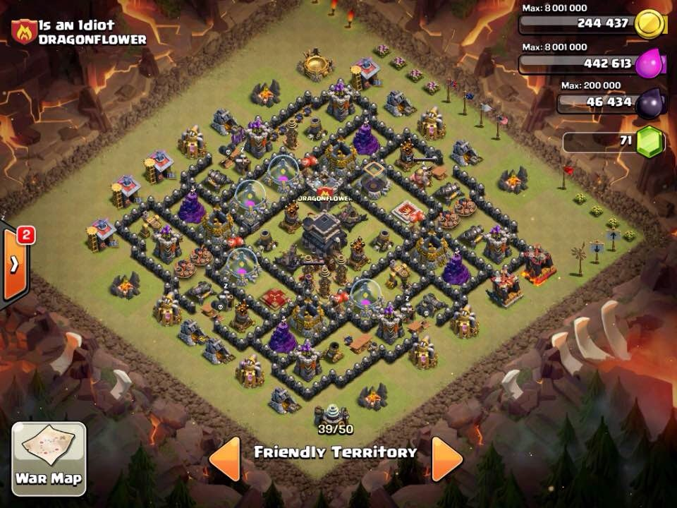Clash of clans th9 best war base 4 mortars speed build youtube
