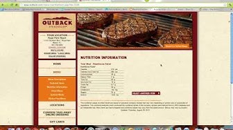 Healthy Restaurant Dining Outback Steakhouse